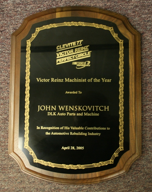 Victor Reinz Machinist of the Year Award, automotive machine shop and speed shop